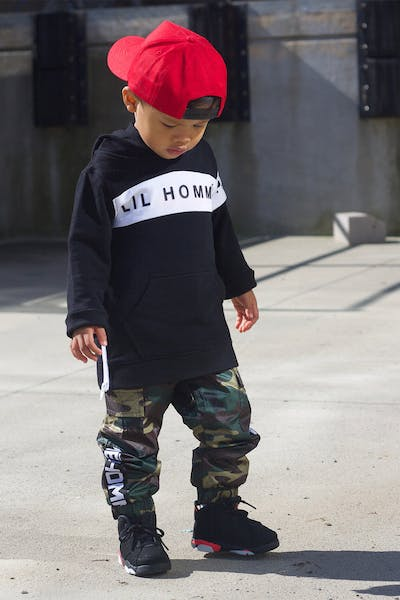 Lil Hommé Marked Cargo Trackpant Camo