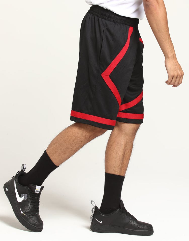 detailed look 8a222 b69fd Jordan Dri-Fit Taped Short Black Red