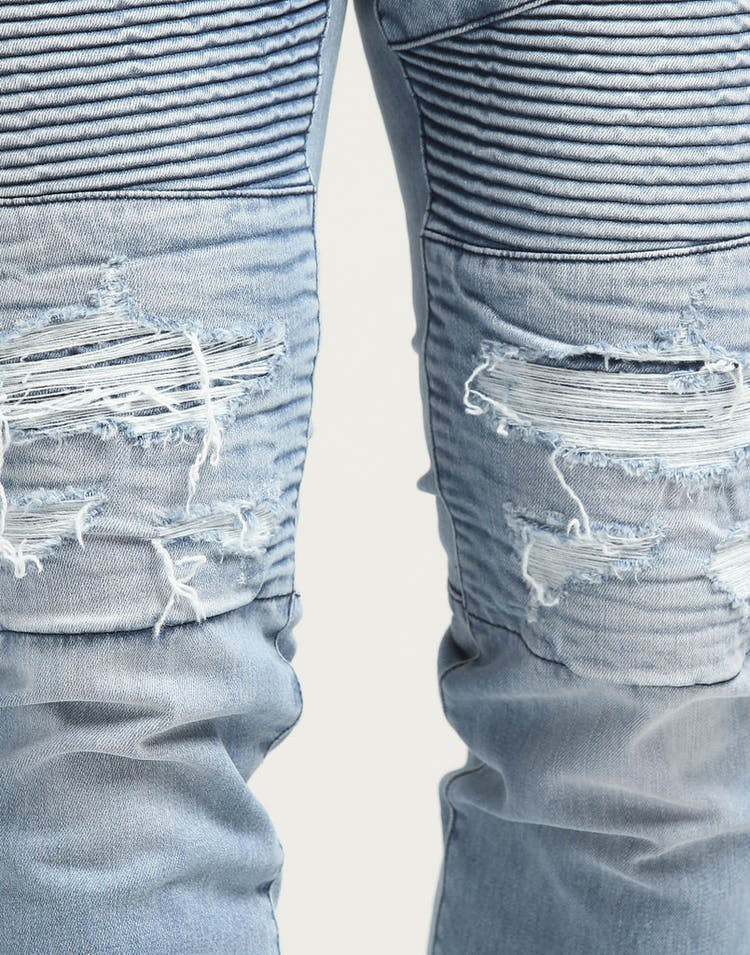 Saint Morta Motorista Biker Jean Light Blue