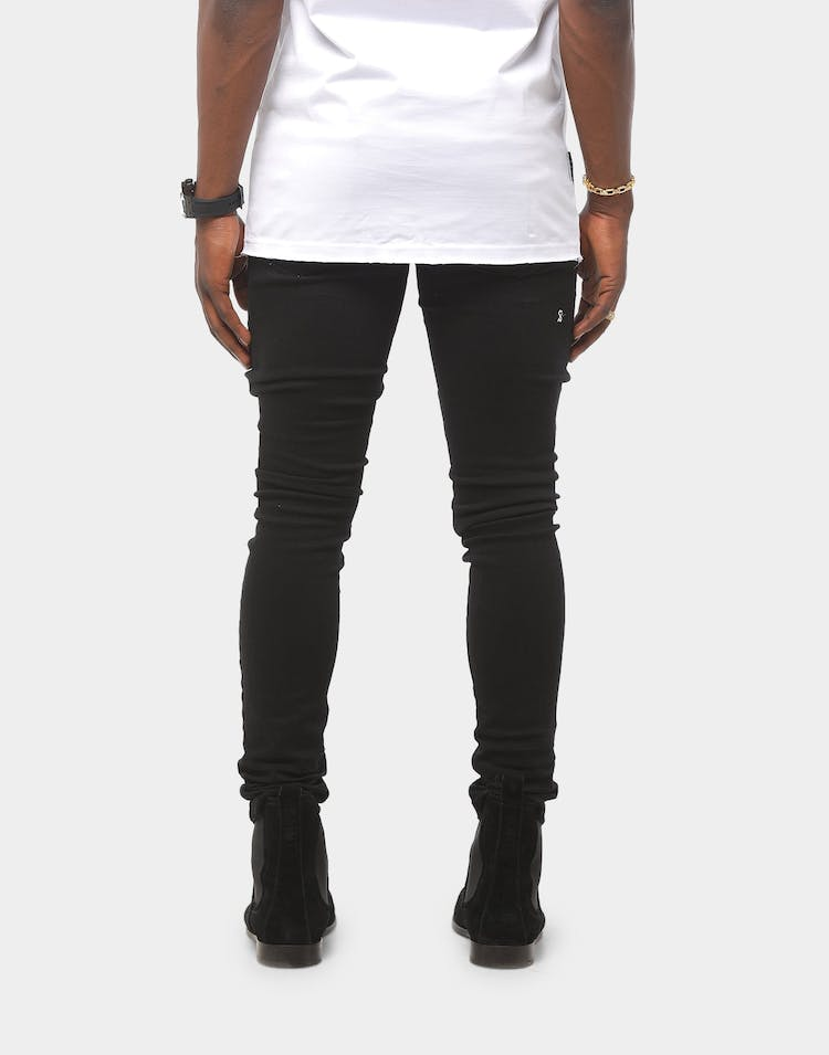 Saint Morta Rags Skinny Jean Black Denim