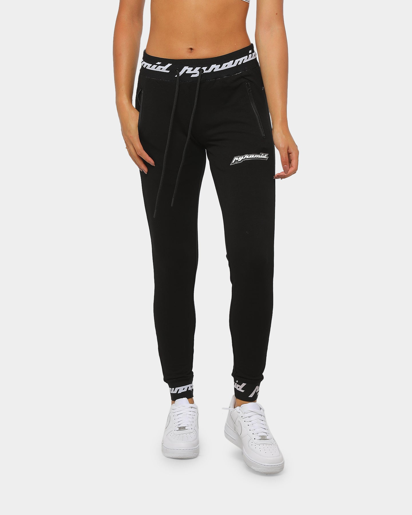 Black Pyramid Black Articulated Knee Jogging Pants