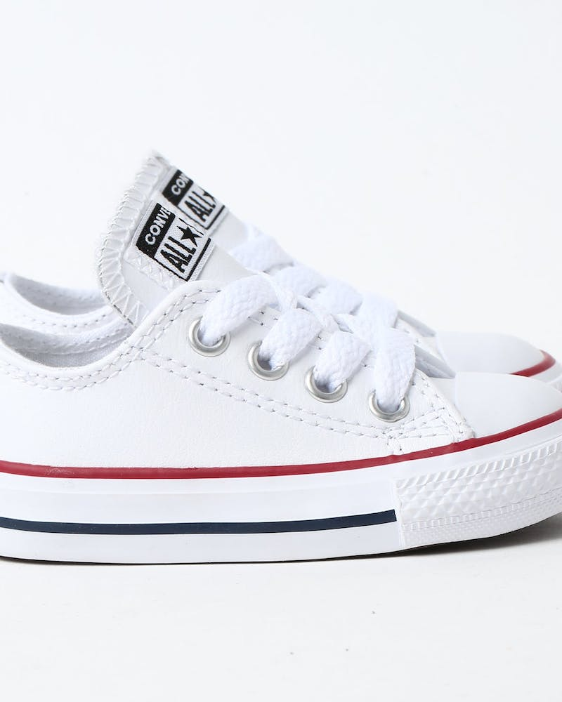 Converse Infant Chuck Taylor All Star OX White/Red/Navy