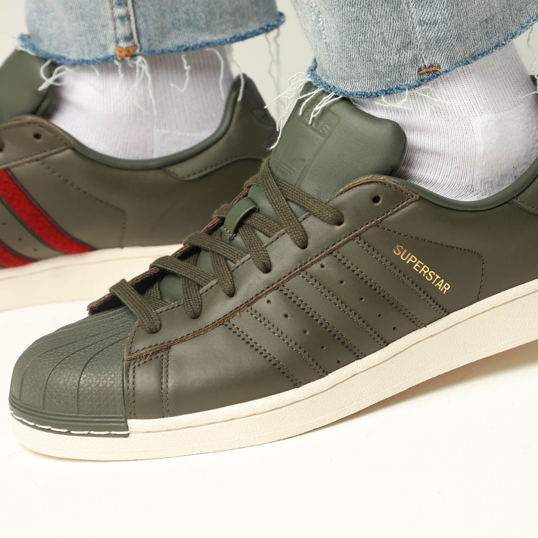 adidas superstar dark green