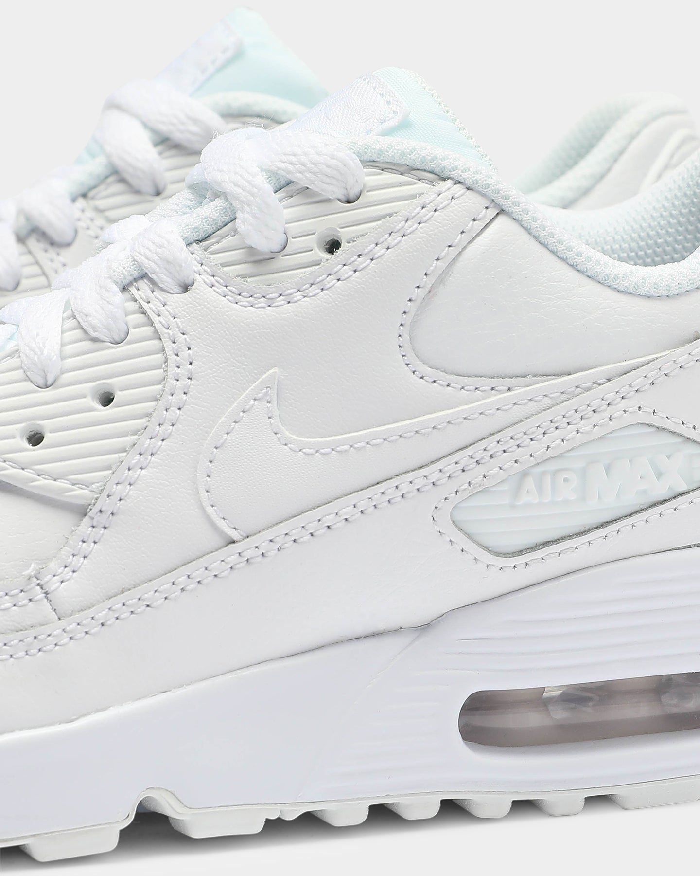 Nike Air Max 90 SE Leather GS shoes silver