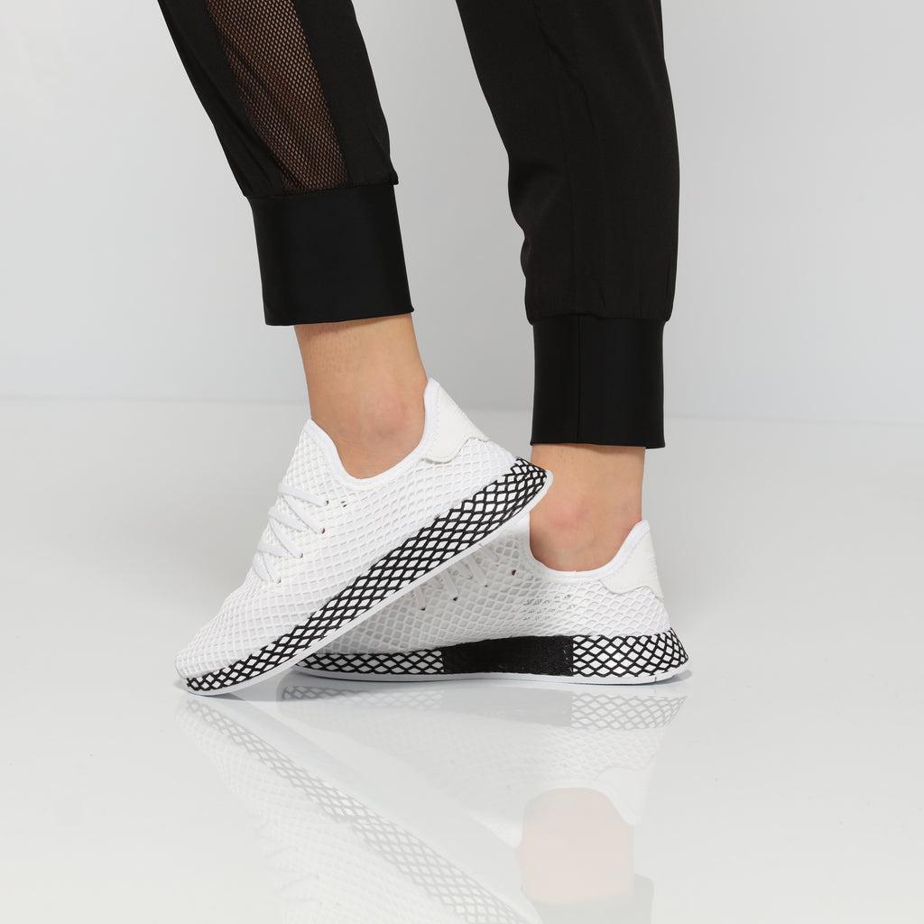 adidas AQ1790 Deerupt Runner Junior Sneaker Weiss: Schuhe