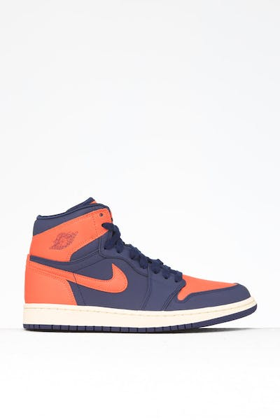 Jordan Women's Jordan 1 Retro Hi Prem Blue/Orange/White