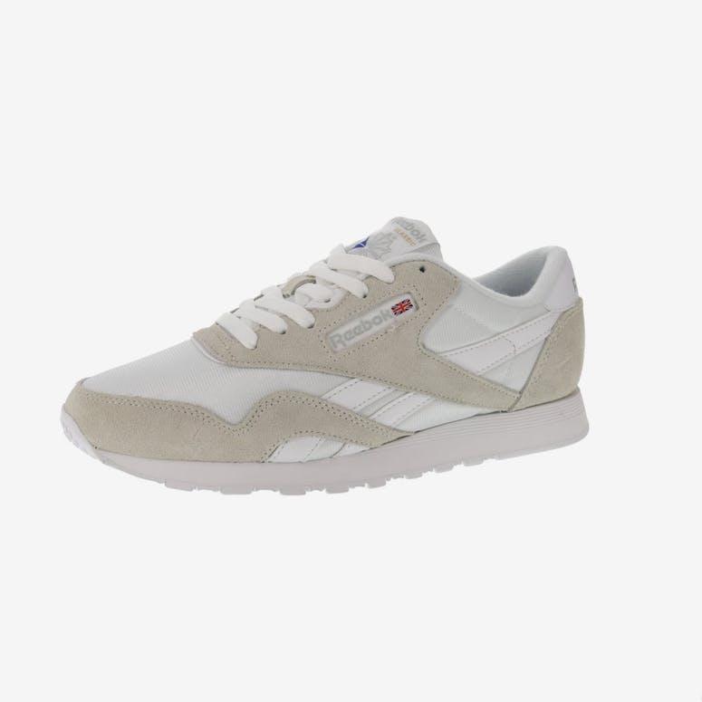 5c1baf4c960 Reebok CL Nylon White Light Grey