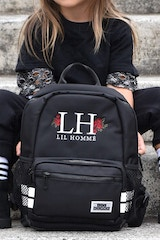 LIL HOMMÉ ROSETTE BACKPACK BLACK