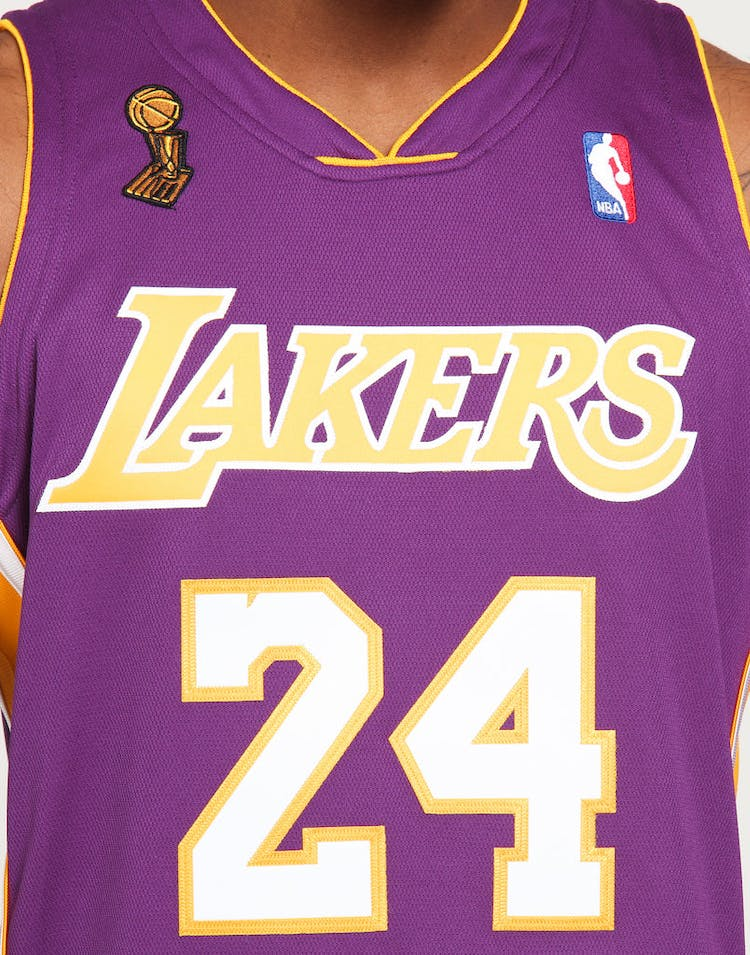 930629258c2e5 Mitchell & Ness Los Angeles Lakers Kobe Bryant #24 Authentic NBA Jersey  Purple