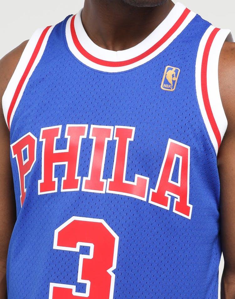 reputable site e49f7 4259f Mitchell & Ness Philadelphia 76ers Allen Iverson #3 NBA Swingman Jersey  Royal