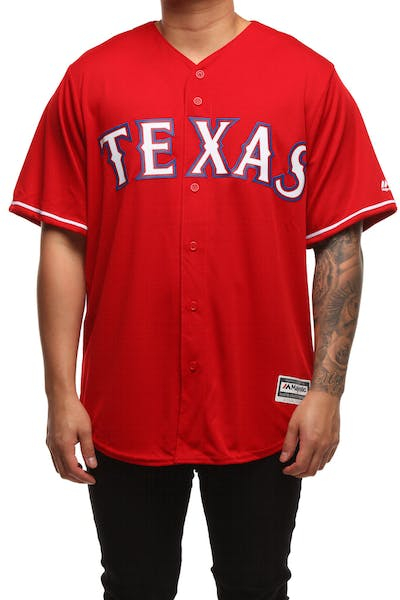 Majestic Athletic Texas Rangers Cool Base Jersey Scarlet