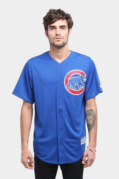 MAJESTIC ATHLETIC CUBS COOL-BASE BASEBALL JERSEY ROYAL