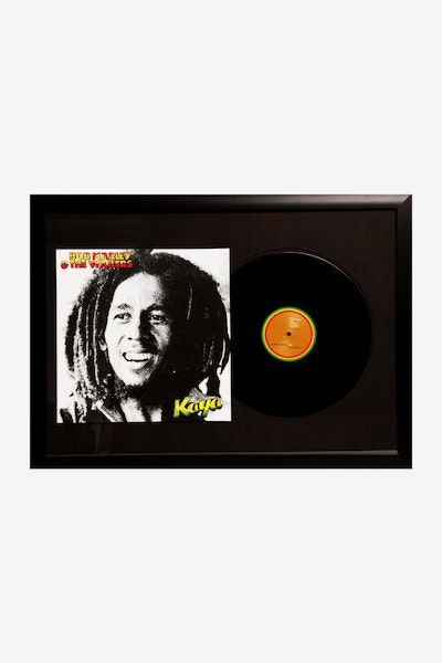 MUSIC MERCH BOB MARLEY KAYA FRAMED RECORD