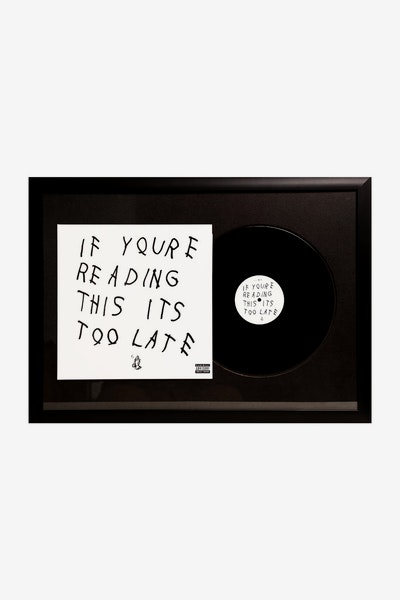 "Music Merch Drake ""If You're Reading This"" Framed Record"