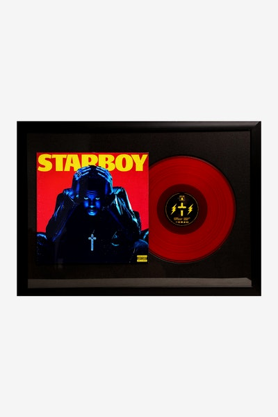 Music Merch Weeknd Starboy Framed Record