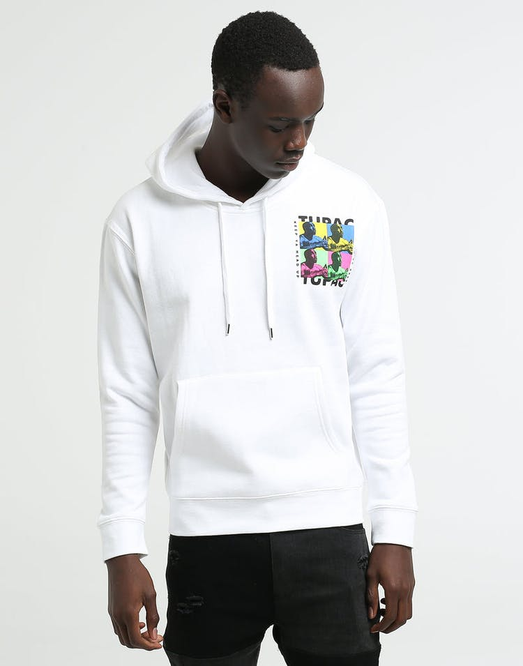 Tupac Keep Ya Head Up Hoodie White