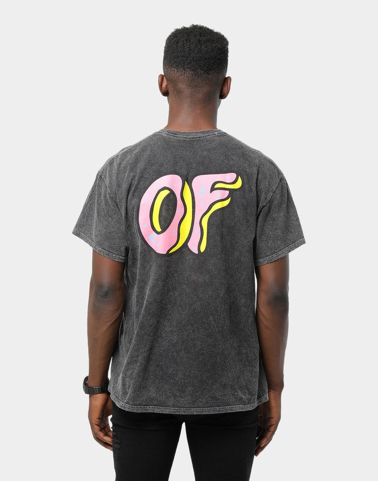 Odd Future Vintage Overdyed OF Logo Tee Black Wash