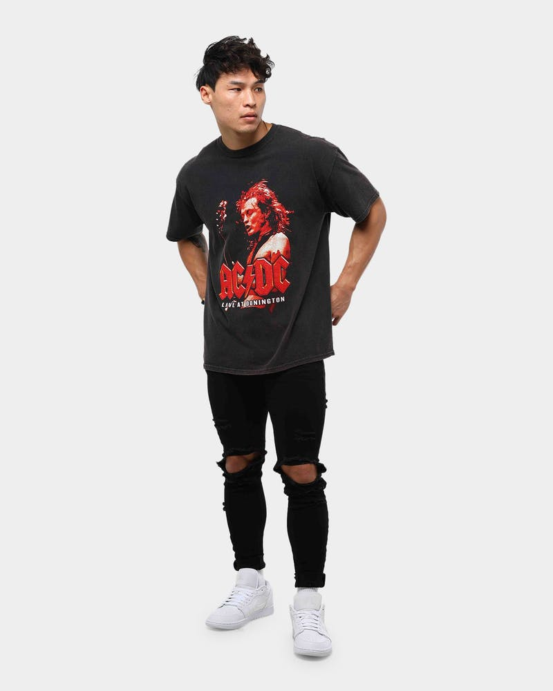 AC/DC Men's Angus Vintage Tee Black Wash