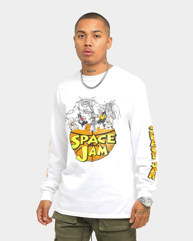 Space Jam Characters Long Sleeve T Shirt White Culture Kings Us