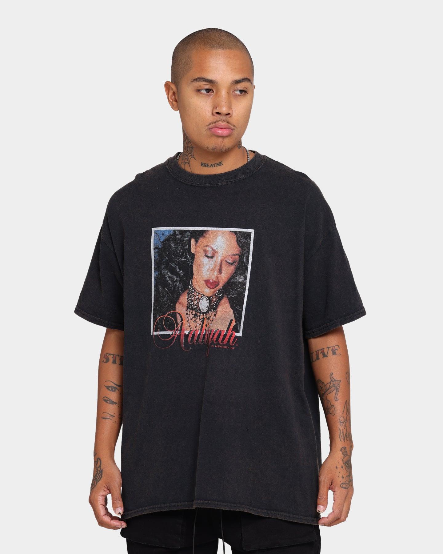 Rock Off Aaliyah T Shirt Trippy Logo Nouveau Officiel Homme