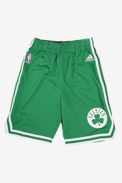 Adidas Celtics Replica Road Youth Shorts Kelly Green
