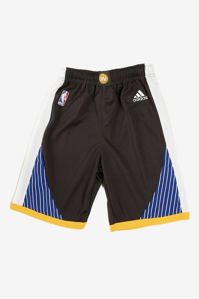 Adidas Warriors Replica Road Alternate Youth Shorts Black