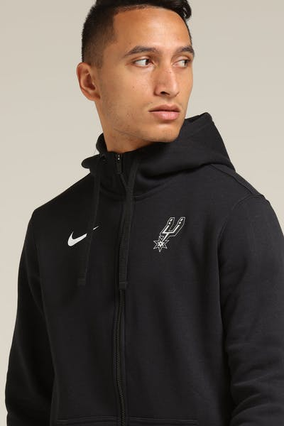 Nike San Antonio Spurs FZ Essential Spring Hood Black/White