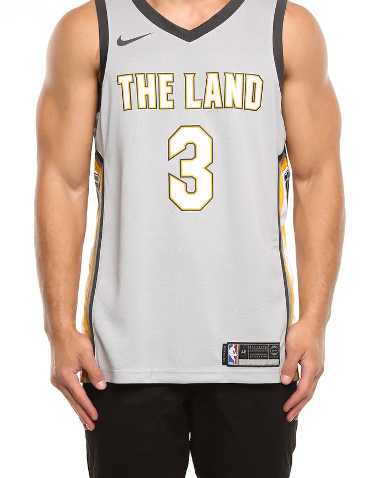 premium selection 88da1 56762 Nike Cleveland Cavaliers #3 Isaiah Thomas City Edition Swingman Jersey  Silver