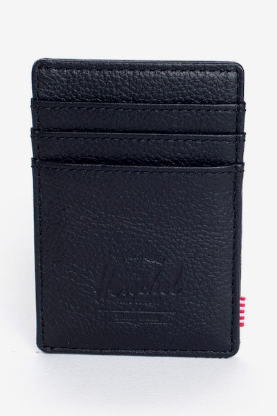 Raven Leather Wallet Black Pebble