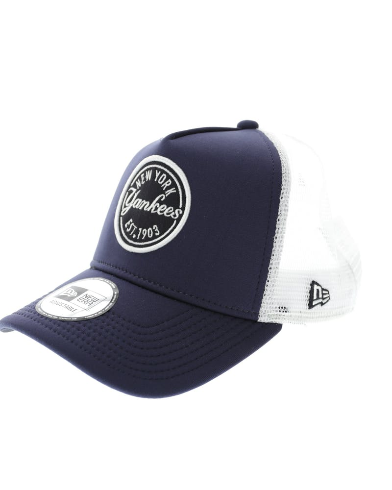 New Era Yankees 9FORTY A-Frame Patch Trucker Navy