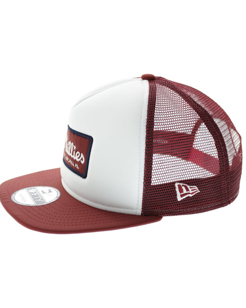New Era Phillies Emblem AF Trucker White/red