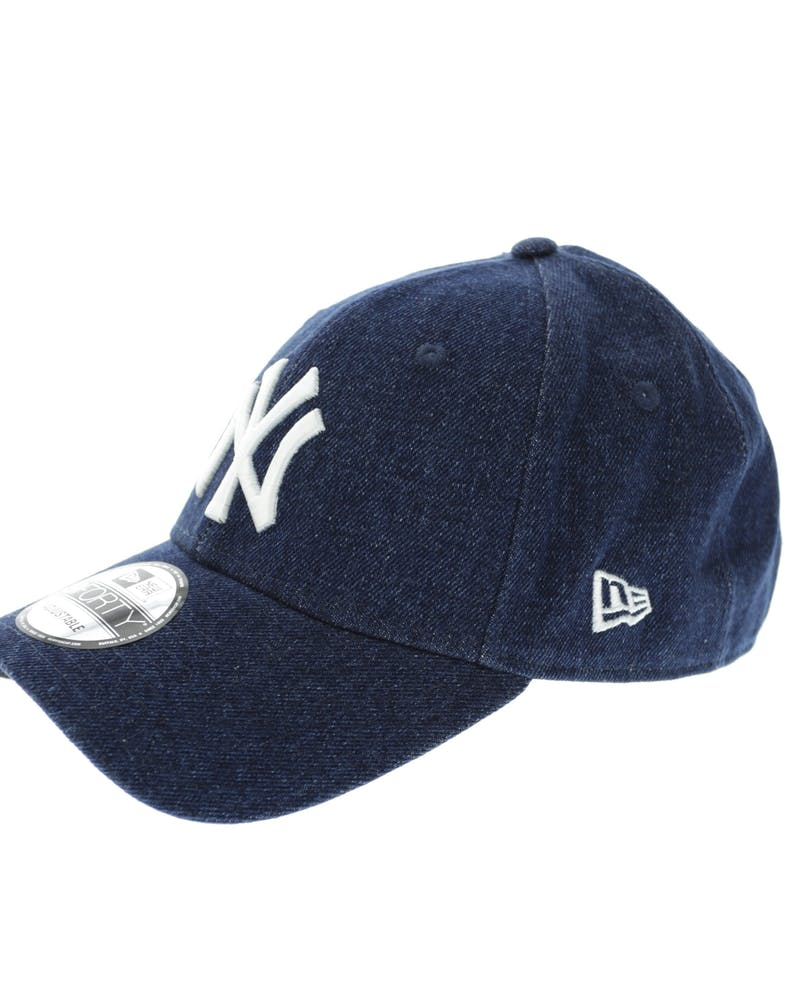 New Era Yankees 9FORTY Denim Strapback Dark Denim