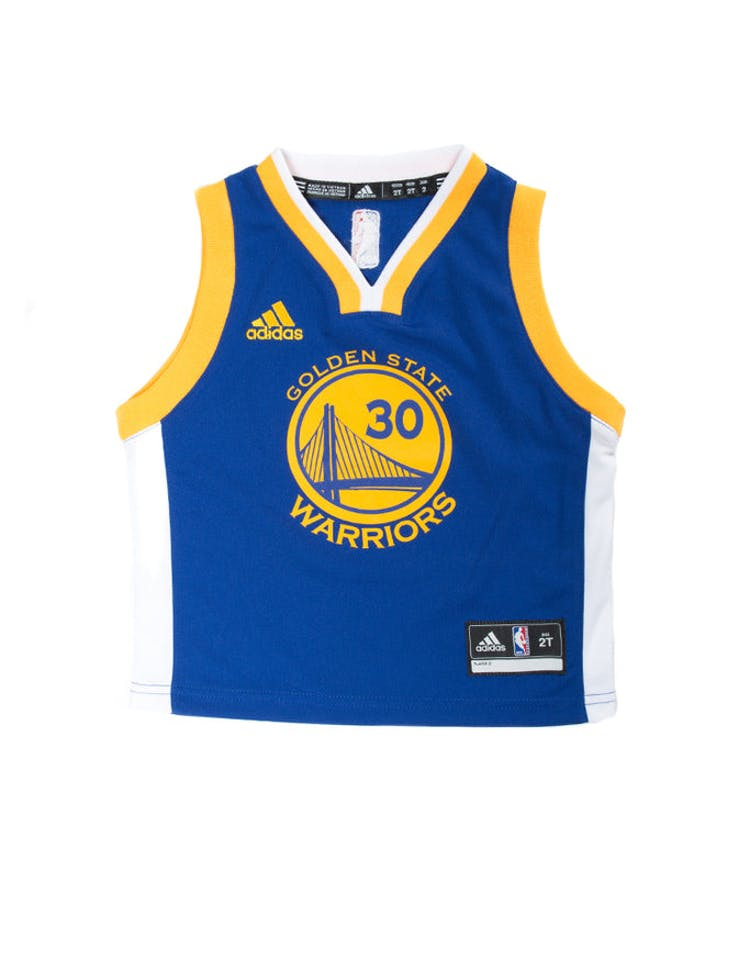 detailed look 92d40 af06b Adidas Toddler Stephen Curry Golden State Warriors Jersey Blue