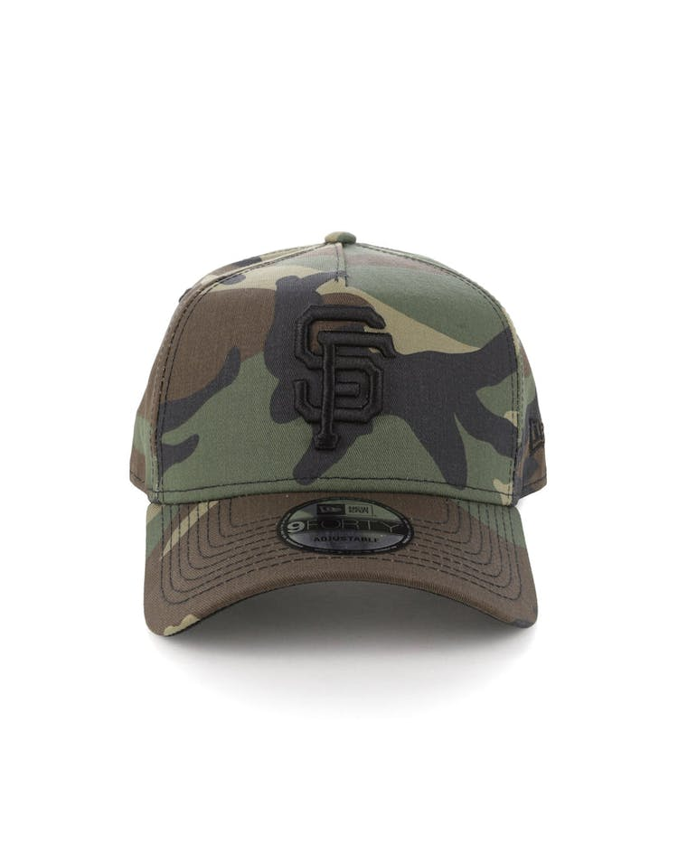 detailed look f45bb 90df0 New Era Giants 9FORTY A-Frame Snapback Camo