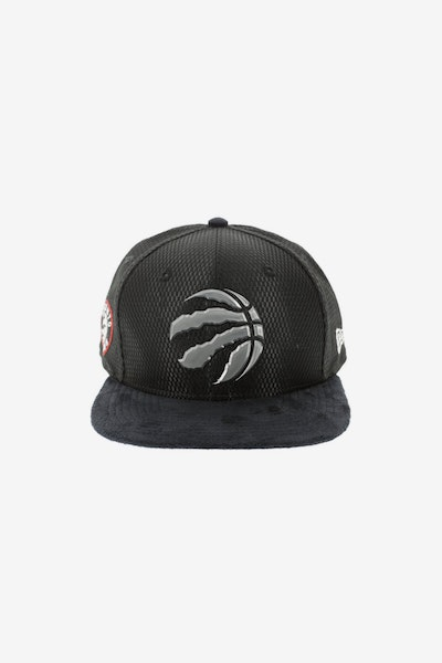 New Era Toronto Raptors 9FIFTY Original Fit On-Court Collection Draft Snapback Black