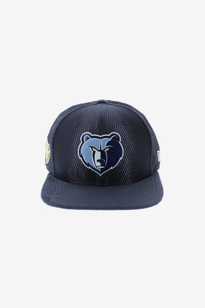 New Era Memphis Grizzlies 9FIFTY Original Fit On-Court Collection Draft Snapback Navy