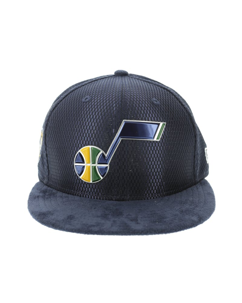 New Era Utah Jazz 9FIFTY On-Court Collection Draft Snapback Navy