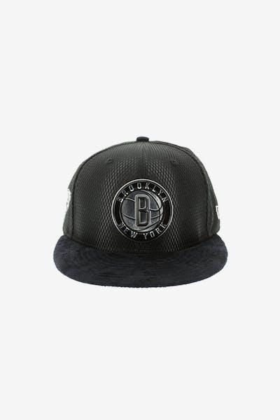 New Era Brooklyn Nets 9FIFTY On-Court Collection Draft Snapback Black