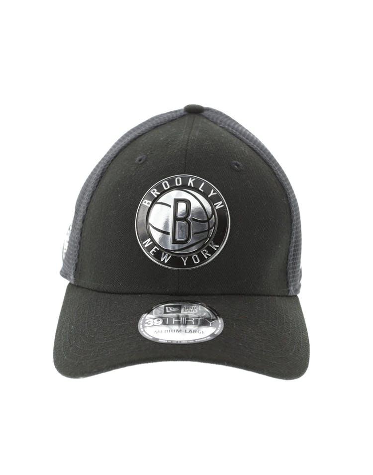 low priced 82e53 45ea6 New Era Brooklyn Nets Logo 3930 Black