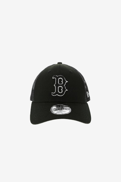 New Era Boston Red Sox 940 Trucker Snapback Black