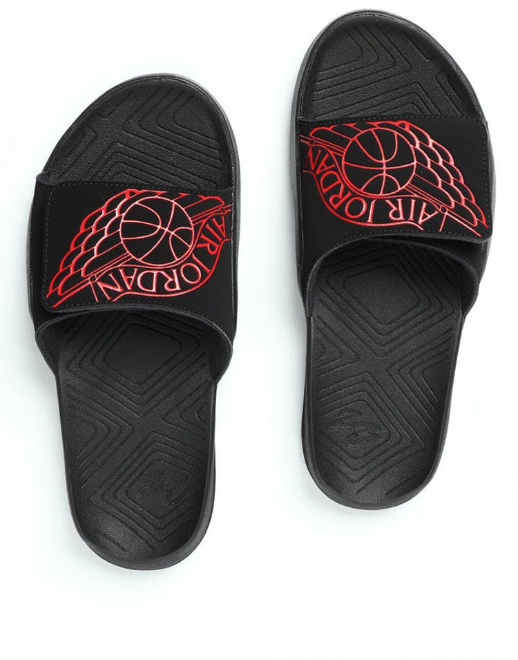 088ca2953000 Jordan Hydro 7 Slide Black Red