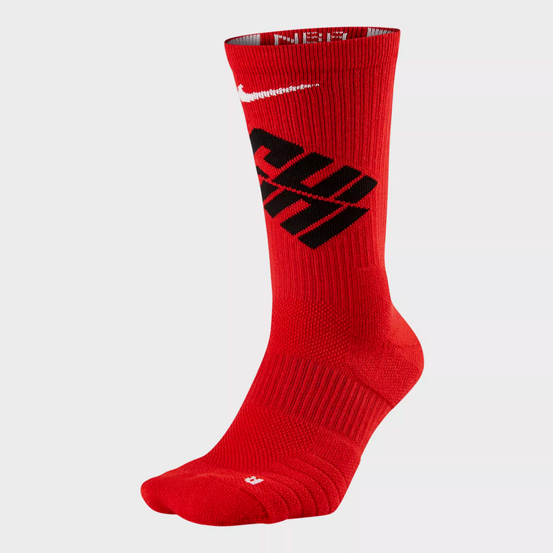 Nike Chicago Bulls Elite Crew Sock Red/Black/White