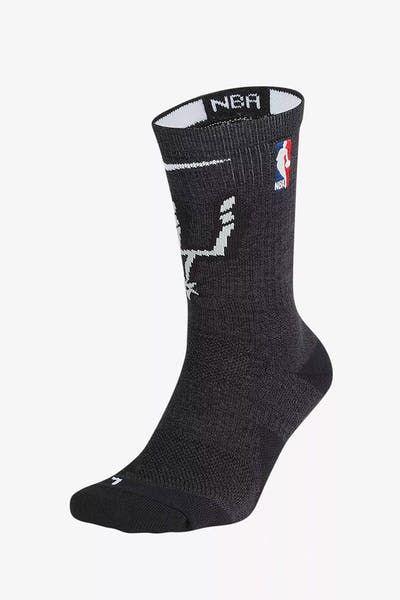 Nike San Antonio Spurs Elite Crew Sock Black/Silver/White