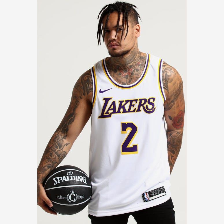 Nike Los Angeles Lakers Lonzo Ball  2 NBA Swingman Jersey Home White Yellow  ba91cfcbf