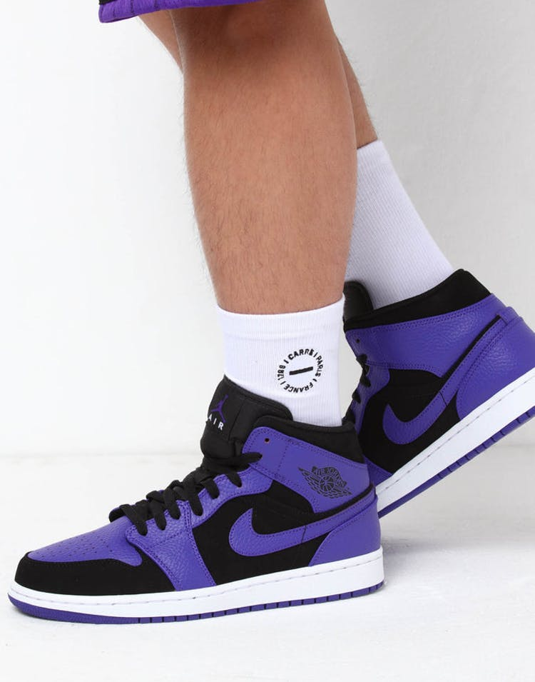 uk availability b253d 946a7 Jordan Air Jordan 1 Mid Black/Purple