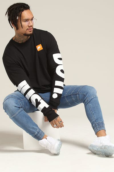 Nike NSW L/S Tee Black/White