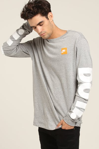 Nike NSW L/S Tee Dark Grey/White