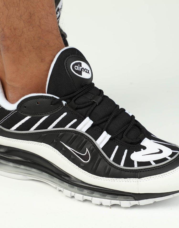 online store d693a a050b Nike Air Max 98 Black/White/Silver