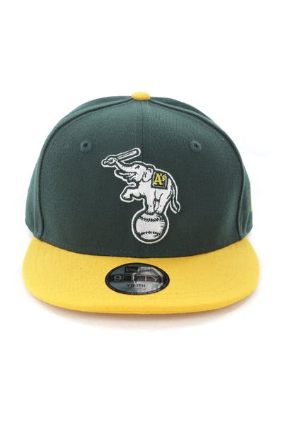 New Era Youth Oakland Athletics 9FIFTY Snapback Dark Green