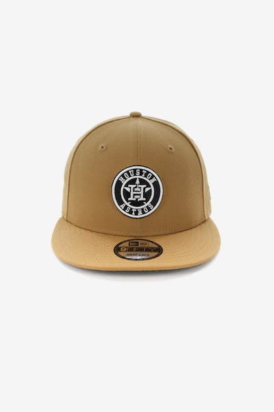 New Era Houston Astros 9FIFTY Snapback Wheat